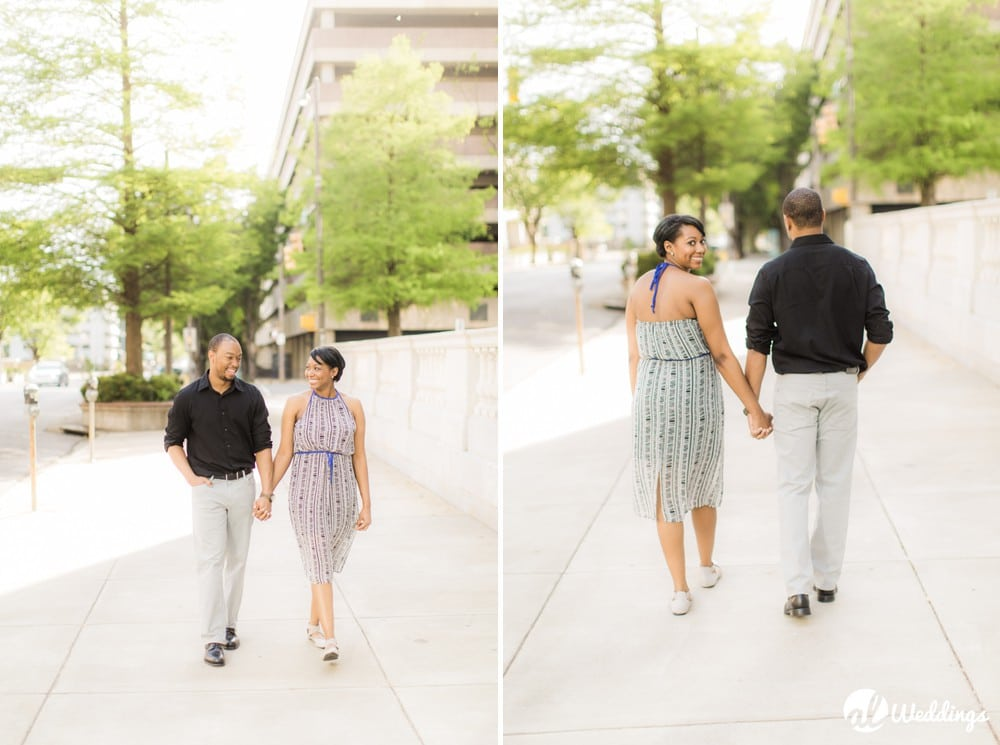 Sunny Downtown Alabama Engagement Session1