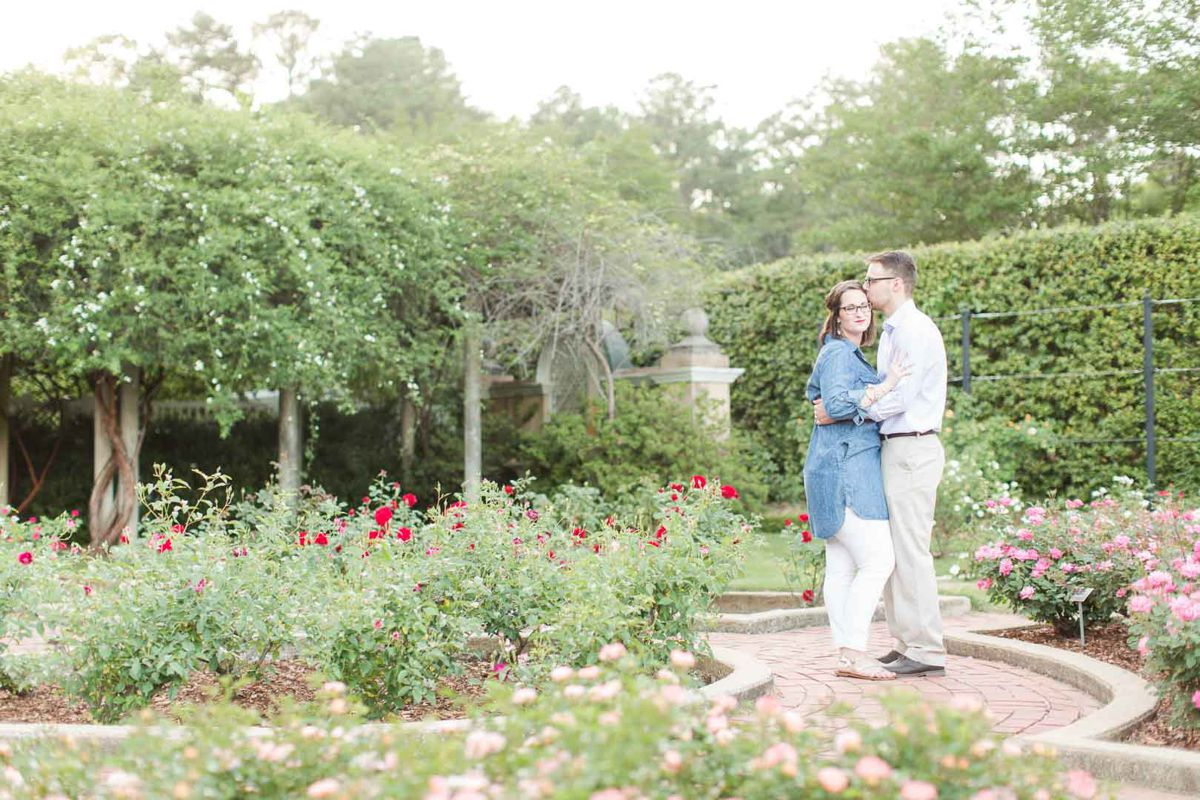 Birmingham Botanical Gardens Downtown Engagement Session With Dog 30 Al Weddings