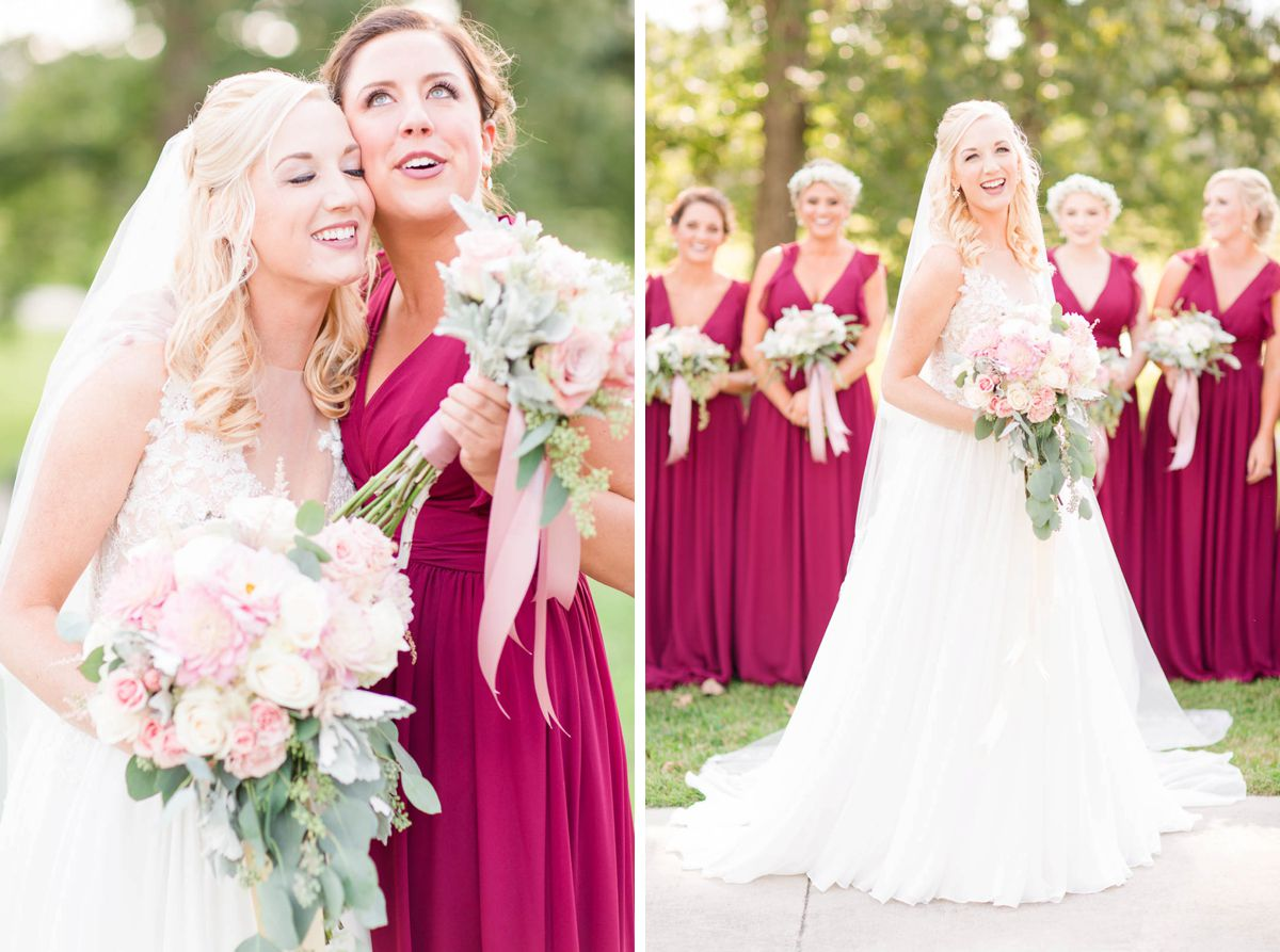 Blue & Burgundy Fall Wedding at Stonebridge Farms | AL Weddings