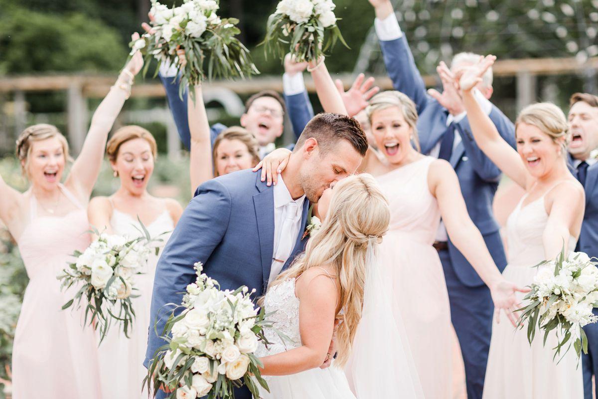 Greenery & Blush Botanical Gardens Wedding   AL Weddings